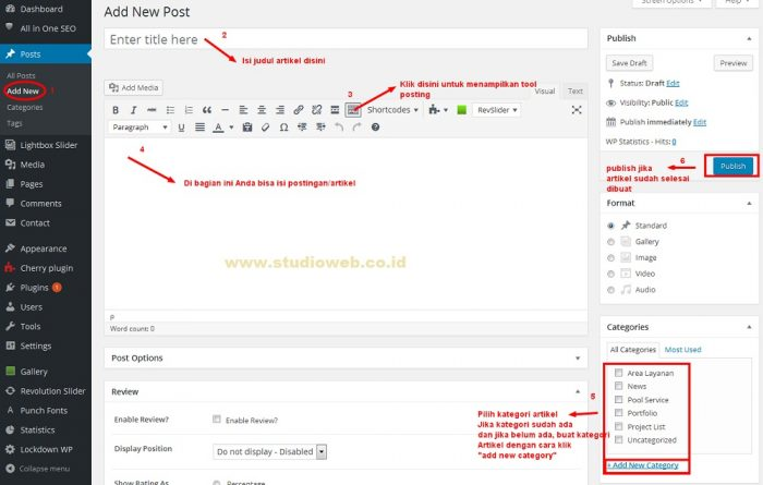 Cara Posting Artikel di Website Wordpress