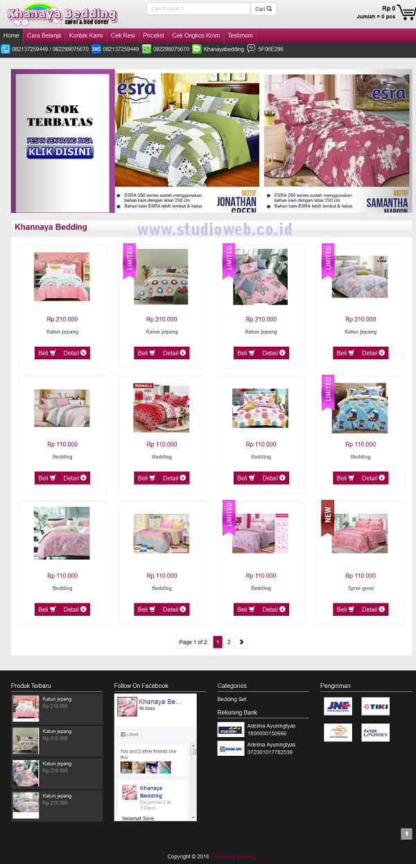 Khannaya Bedding Jual Sprei Dan Bed Cove