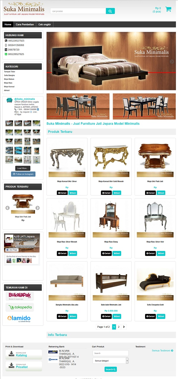 Jasa Pembuatan Website Furniture Suka Minimalis Jual Furniture Jati Jepara Model Minimalis