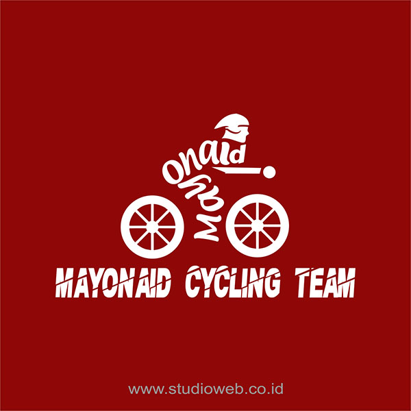 desain logo mayonaid cycling team